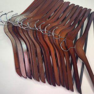 Cherry & Natural Wooden Hangers Set of 30